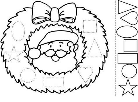 imagenes de santa claus para armar corona de navidad dibujalia dibujos para colorear