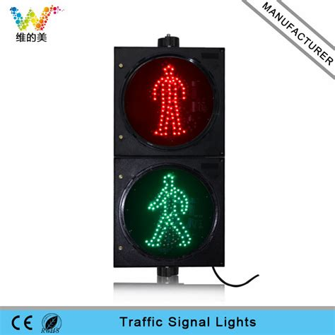 wireless stop and go lights 300mm red green dynamic stop go led pedestrian signal