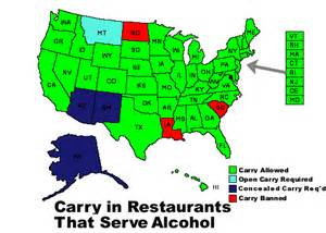 gun restaurant carry with permit coming to south