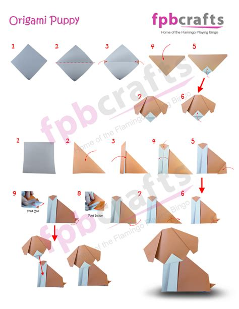 Puppy Origami - free coloring pages how to make an origami puppy 17 best