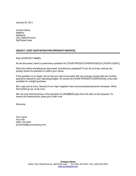 cover letter quotation template quote template