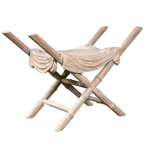 Faux Bamboo Stool by Faux Bamboo Carved Stool For Sale At 1stdibs