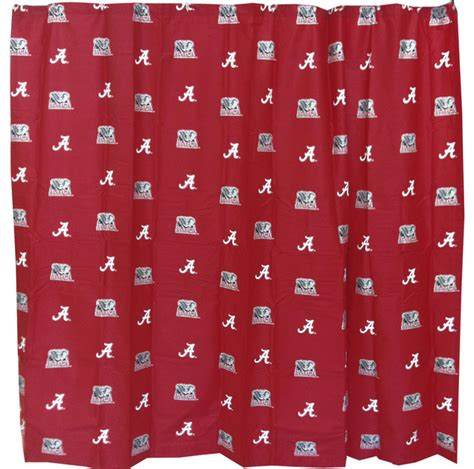 university of alabama shower curtain ncaa alabama crimson tide shower curtain bathroom