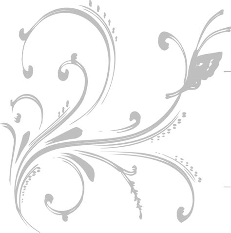 butterfly pattern png grey floral design with butterfly clip art at clker com