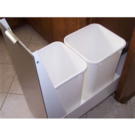 under sink double trash pull out pull out built in trash cans cabinet slide out under sink