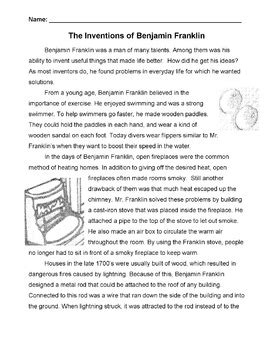 benjamin franklin biography worksheet biography inventions of ben franklin info 4 cause effect