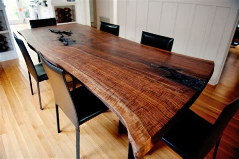 Live Edge Wood Slab & Pipe Dining Room Table   Rustic   Dining Tables   by Unique Wood & Iron