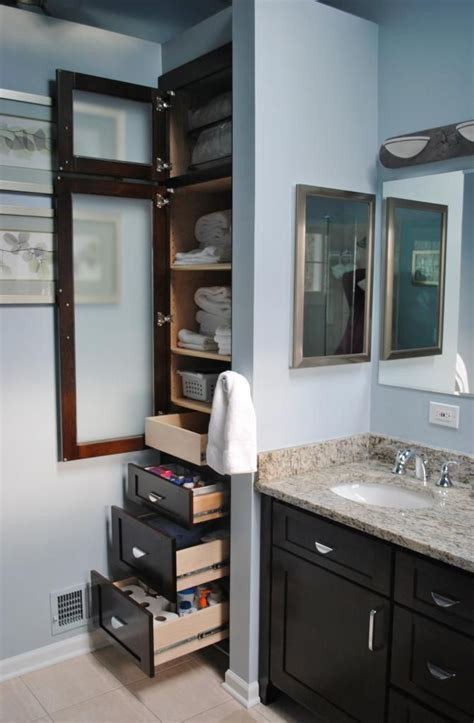 Bathroom Linen Closet Ideas Bathroom Built In Closets Master Bathroom Updated X Post From Decorating Bathrooms Forum