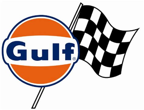 Gulf Oil Race Team Flag Sticker Ac1911