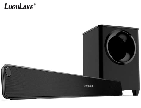 lugulake 2 1 channel 140watt tv soundbar system with