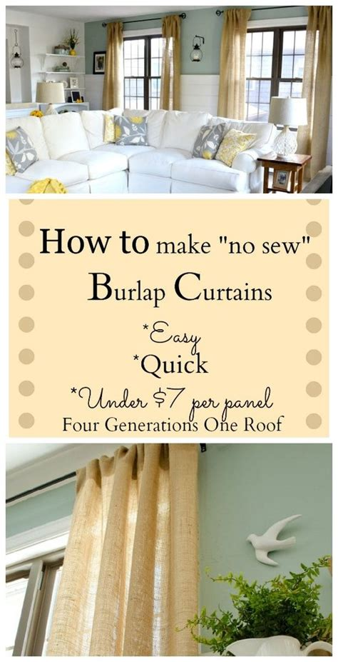 how to make curtains how to make curtains using burlap no sew diy craft s