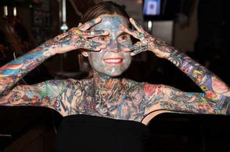 most tattooed woman top 10 most tattooed in the world bad pictures