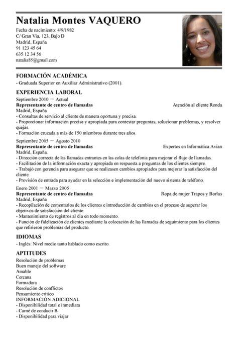 Modelo Curriculum Quimico Farmaceutico Modelo De Curr 237 Culum V 237 Tae Representante De Centralita De Llamadas Representante De Centralita