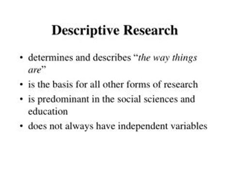 descriptive design meaning ppt descriptive research design survey and observation