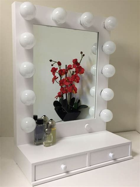 vanity mirror with drawers and lights vogue lighted makeup vanity mirror with drawers