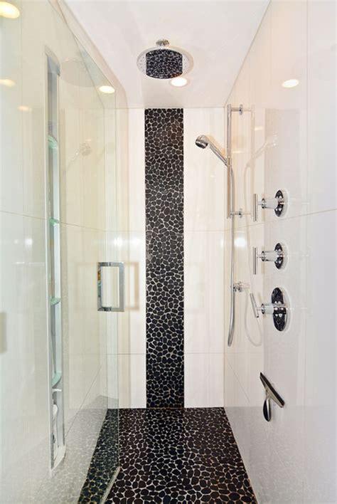Black And White Tile Bathroom Paint Color - 58 luxury walk in showers design ideas designing idea