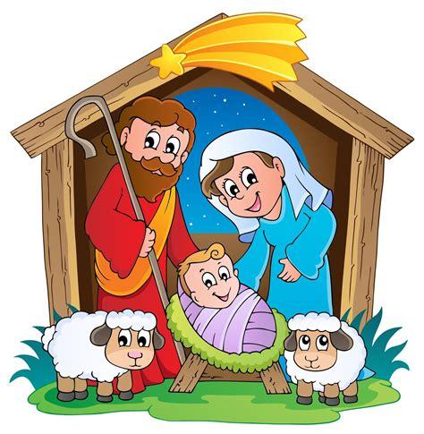 imagenes jesucristo caricatura ilustracion del nacimiento de jesus con jose y maria para