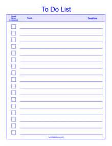 list template checklist templates