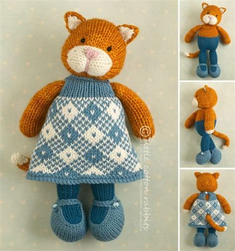 cat knitting knitted cats all the cutest free patterns the whoot