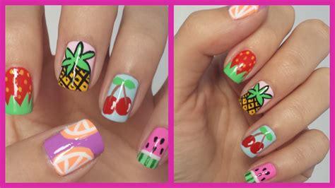 easy nail art on youtube easy fruit nail art youtube