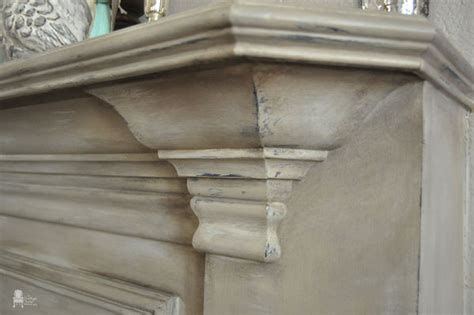 Faux Painting Finishes - chalk paint fireplace mantel vintage charm restored