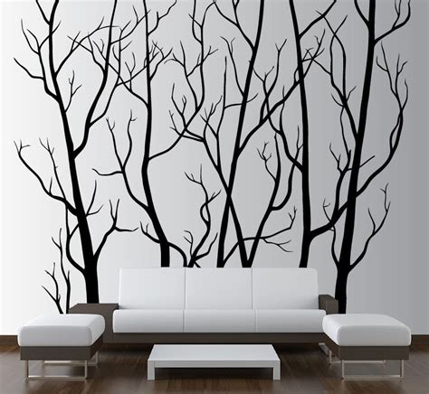 10 Gorgeous Wall Hangings From Ikea by Large Wall Decor Vinyl Tree Forest Decal Sticker