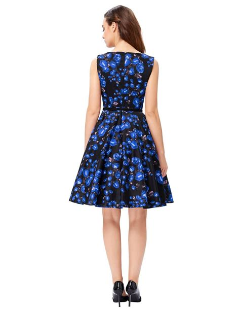 rose swing blue rose swing dress 1950sglam