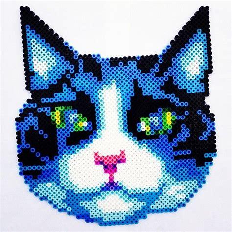 perler bead cat cat perler fuse by catsandstaches