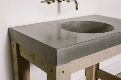 cement bathroom sink orb sink concrete wave design concrete countertops