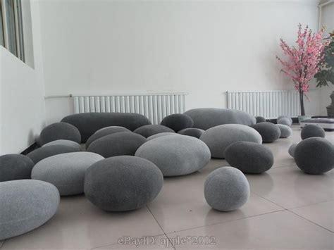 pebble bean bags 6pcs living pebble pillows pillowcase rock bean bag