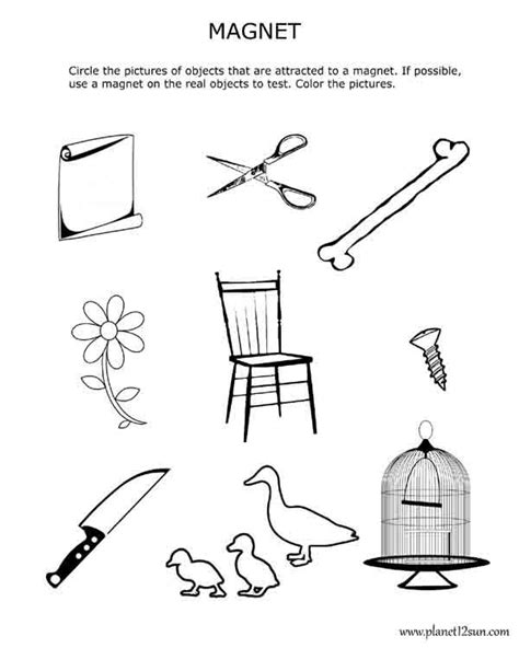 kindergarten activities magnets magnetism magnets worksheet for 3rd and 4th grade