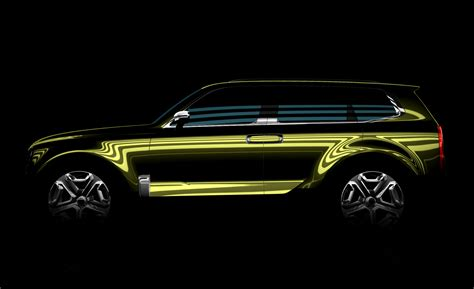 Kia Suv Car Kia Releases Photo Of New Size Suv Concept News