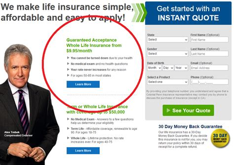 colonial penn life insurance review   rates