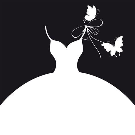 Wedding Vector Silhouette by Beautiful Wedding Dress Silhouette Design Vector 02 Jpg