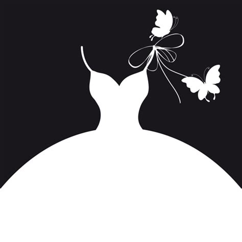 Beautiful-wedding-dress-silhouette-design-vector-02.jpg ... Free Clipart Bride Silhouette
