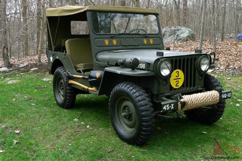 willys army jeep 1951 willys m38 fully restored antique army military