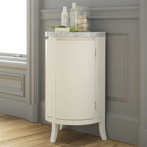 Demilune bath cabinet