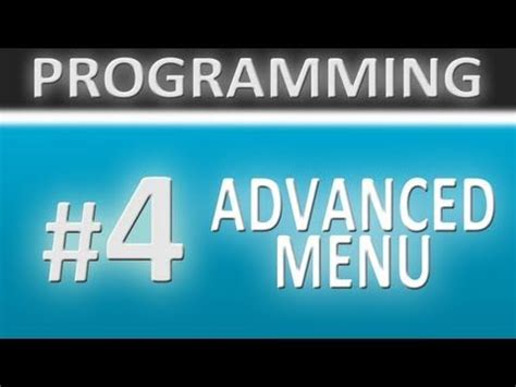 unity tutorial advanced unity 3d tutorials programming 4 advanced menu
