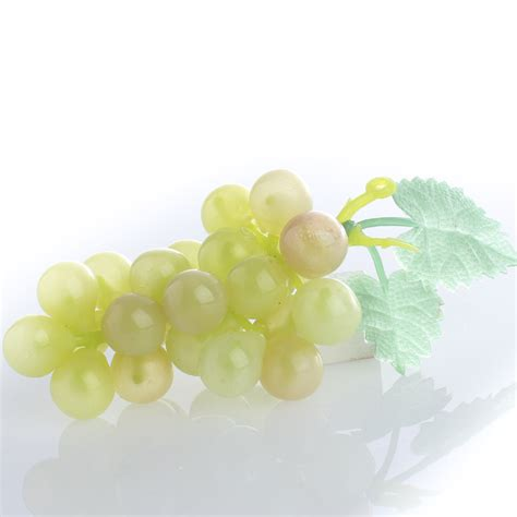 small artificial white grape cluster table and shelf
