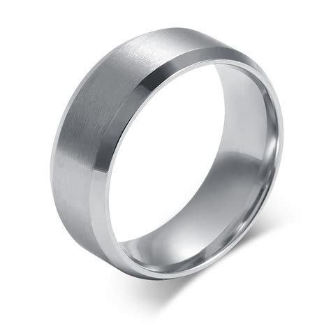 stainless steel wedding rings in gold and silver