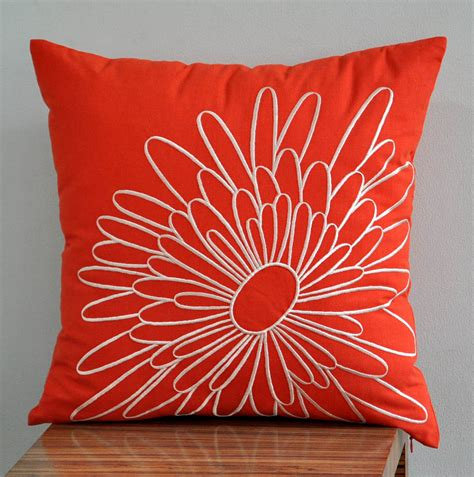 Covering Pillows by Orange Pillow Cover Decorative Pillow Cover Throw By Kainkain