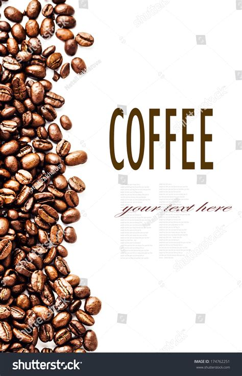 coffee text wallpaper roasted coffee beans background texture isolated stock