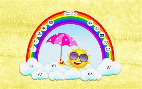 kitty themes for monsoon rainbow theme tambola ticket for monsoon or rainy theme