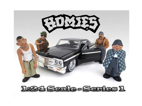 Hommies Figure Diorama Diecast Wheels Wolfe quot homies quot figure set of 4pc for 1 24 scale diecast model cars by american diorama