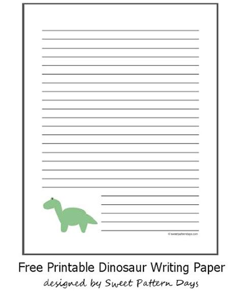 lined paper with dinosaur border free printable dinosaur writing paper stationery
