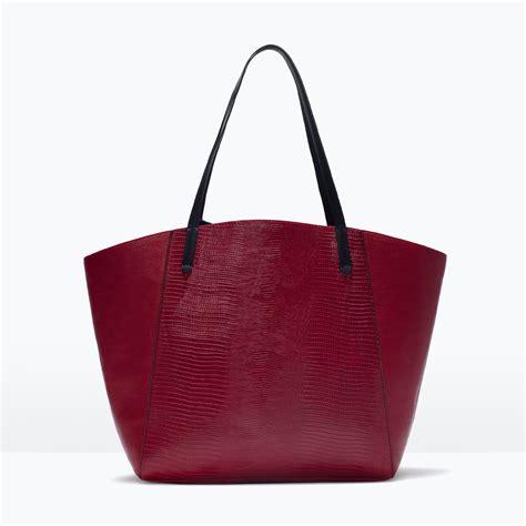 Zara Bag 4 zara combined shopper bag in lyst