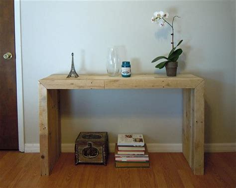 Pallet Console Table Diy Pallet Console Table Pallet Furniture Plans