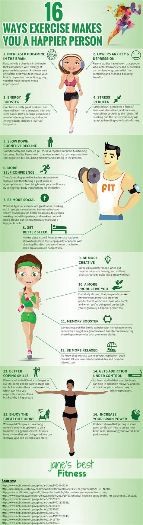 newspaper layout exercises infographic 16 ways exercise makes you a happier person