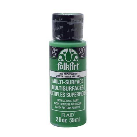 folk acrylic paint bulk folkart 2 oz bright green multi surface paint 2950 the