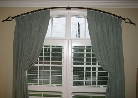 curtain rod for arched window 205 best arch window treatments images on pinterest